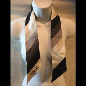 Beautiful Coach skinny scarf
